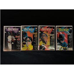 BATMAN 426-429 - COMPLETE CLASSIC DEATH OF ROBIN STORYLINE (HIGHER MID GRADE AVG.) (1988)