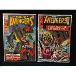 AVENGERS #27 & 69 - (HIGHER MID GRADE AVG) SHARP COPIES! (1960S)