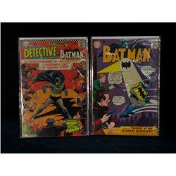BATMAN #170 + DETECTIVE COMICS #354 (MID GRADE AVG) (1960S)