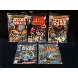 STAR WARS #1-5 (#1 IS A REPRINT) MID GRADE AVG (1977)