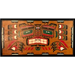 ORIGINAL HUNT FAMILY PAINTING, FEATURING GRIZZLY BEAR DESIGN, PAINTED C. 1949,
