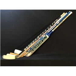 4 HOCKEY STICKS INC. RYAN MILLER GAME USED STICK AND DANY HEATLEY/MARTIN ST. LOUIS SIGNED STICK