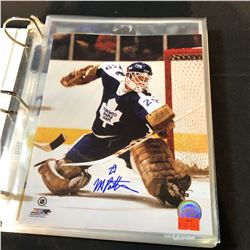 BINDER OF VARIOUS AUTOGRAPHED PICTURES INC. MANY HOCKEY, SOCCER, MMA, AND OTHER SPORTS. APPROX. 40