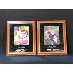 SE RI PAK AND JULI INKSTER FRAMED AND SIGNED LIMITED EDITION UPPER DECK PRINTS