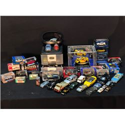 COLLECTION OF SCALE MODEL, DIE-CAST AND OTHER MODEL CARS INC. MAISTO, MOTOR MAX, HOT WHEELS AND