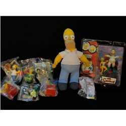 COLLECTION OF THE SIMPSONS FIGURES AND MEMORABILIA