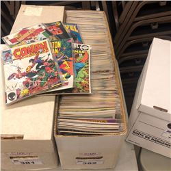 MIXED PUBLISHER COMICS LONG BOX (LOW GRADE - SEVERE WARPING, ETC) (MID 1980S)