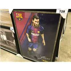 LIONEL MESSI FRAMED SOCCER PICTURE
