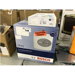BOSCH MINI-TANK ELECTRIC WATER HEATER AND KITCHEN FAUCET