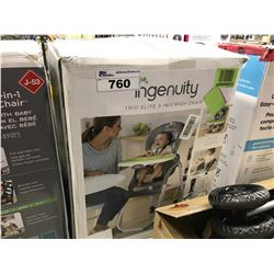 INGENUITY TRIO ELITE 3 IN 1 HIGH CHAIR