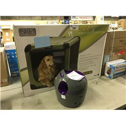 SOF-KRATE 2 INDOOR/OUTDOOR PET HOME AND AUTOMATIC BALL LAUNCHER