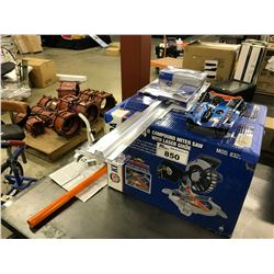 KING CANADA COMPOUND MITER SAW AND OTHER TOOLS
