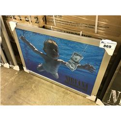"NIRVANA ""NEVERMIND"" FRAMED POSTER"
