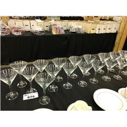 LOT OF MARTINI GLASSES