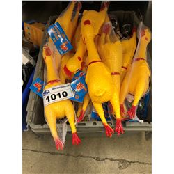 BIN OF RUBBER CHICKENS AND MORE, BIN NOT INCLUDED