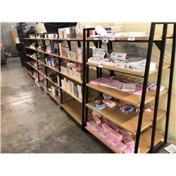 CONTENTS OF ROW OF DISPLAY RACKING INC. NOTEBOOKS, PERFUME, COSMETIC PRODUCTS AND MORE
