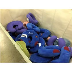 LARGE QUANTITY OF NECK CUSHIONS, BIN NOT INCLUDED