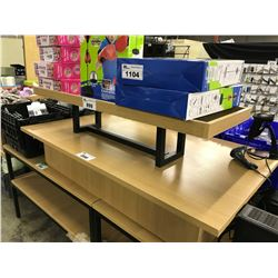 WOOD AND METAL FRAME RETAIL DISPLAY BENCH