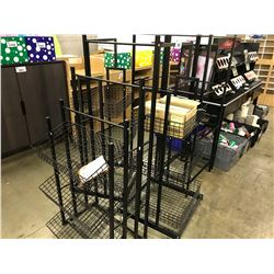 LOT OF ASSORTED METAL FRAME DISPLAY STANDS