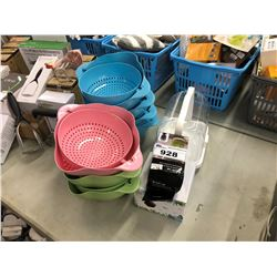 LOT OF BOWLS AND KITCHEN ITEMS