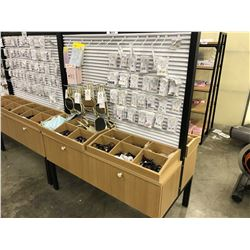 DOUBLE SIDED RETAIL DISPLAY FIXTURE