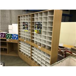 CUBBY HOLE 6.5' RETAIL DISPLAY STAND