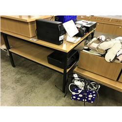 APPROX 4 X 4' METAL FRAME 2 LEVEL DISPLAY COUNTER
