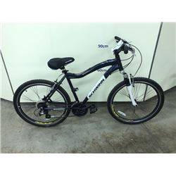 BLUE SCHWINN CONVERSION 24 SPEED FRONT SUSPENSION MOUNTAIN BIKE