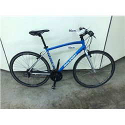 BLUE AND GREY RALEIGH 21 SPEED HYBRID ROAD BIKE