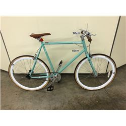 LIGHT GREEN RETROSPECT SINGLE SPEED ROAD BIKE