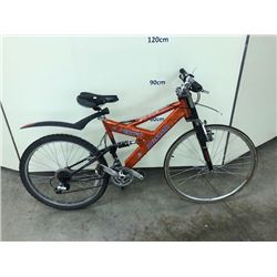 ORANGE DUNLOP WHIPLASH FULL SUSPENSION MOUNTAIN BIKE