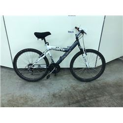 GREY AND WHITE ARASHI MATRIX 18 SPEED MOUNTAIN BIKE