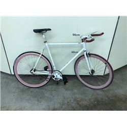 WHITE NO NAME SINGLE SPEED ROAD BIKE
