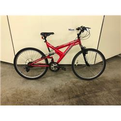 RED RALEIGH LEGEND 21 SPEED FULL SUSPENSION MOUNTAIN BIKE