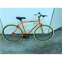 ORANGE TAKARA SINGLE SPEED ROAD BIKE