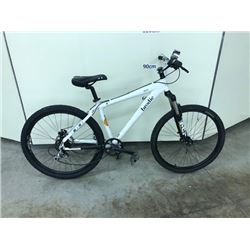 WHITE BRODIE BRAT 24 SPEED FRONT SUSPENSION MOUNTAIN BIKE WITH REAR DISK BRAKE