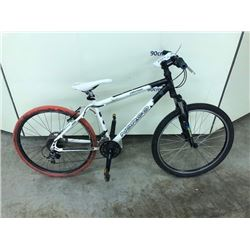 BLACK AND WHITE NORCO NITRO 21 SPEED MOUNTAIN BIKE WITH REAR DISK BRAKE