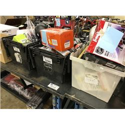3 BINS OF MISC. STORE RETURNED PRODUCT