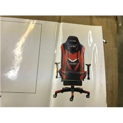 BLACK AND RED RACING STYLE COMPUTER CHAIR