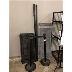 2 STANCHIONS AND RACKING