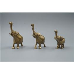 "A Group of Three Bronze ""Elephant"" Decorations."