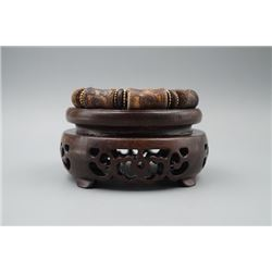 "A ""Bamboo"" Pattern Barrel Beads Bracelet."