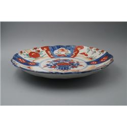 A Late 19th Century Japan Imari Blue-and-White and Kakiemon Plate.