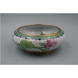 "An Early Days of New China Cloisonne Enamel ""Floral"" Waterpot."