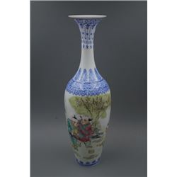 "A ""Jiang De Zhen Zhi"" Mark Bodiless ""Boys"" Vase."