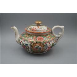 "A Large ""Guangcai"" ""Figure and Story"" Teapot."