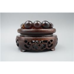 Blood Cherry Amber Barrel Beads Bracelet.