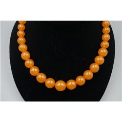 Baltic Butterscotch Amber Bead Necklace.