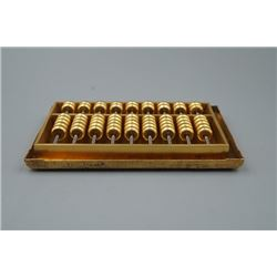 A Gold Plating Bronze Abacus.