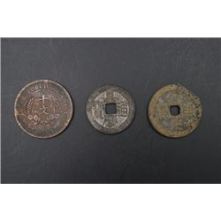 A Group of Three Old Coins.